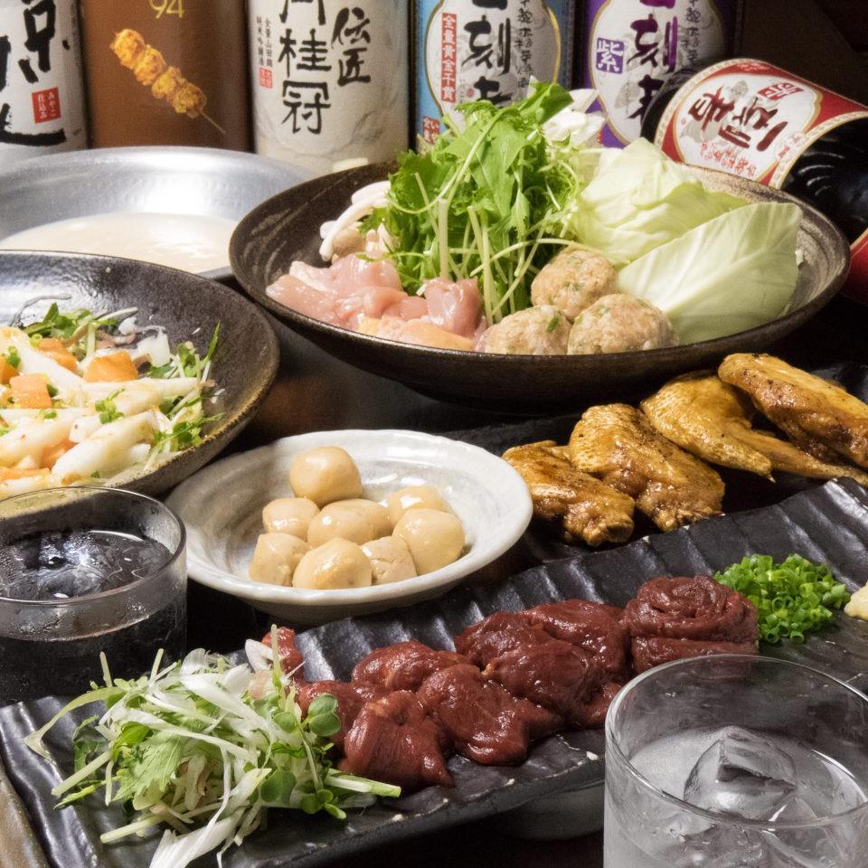 とりいちず 水道橋店の鶏料理もお酒もしっかり楽しめるコース